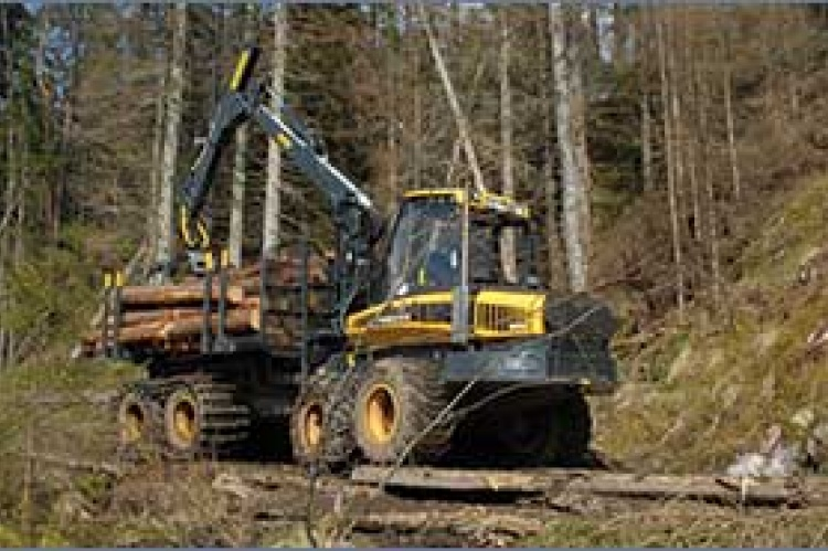 Work being carried out at a Södra member forest to limit soil damage when harvesting, in response to discussions with members and NGOs in Sweden